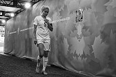Steph Houghton of England walks down the tunnel after her team lost to Japan during the FIFA Women's World Cup 2015 Semi Final match between Japan...