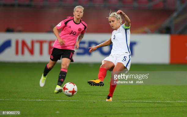 Steph Houghton of England Women during the UEFA Women's Euro 2017 match between England and Scotland at Stadion Galgenwaard on July 19 2017 in...