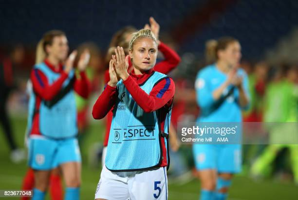 Steph Houghton of England Women during the UEFA Women's Euro 2017 match between Portugal and England at Koning Willem II Stadium on July 27 2017 in...