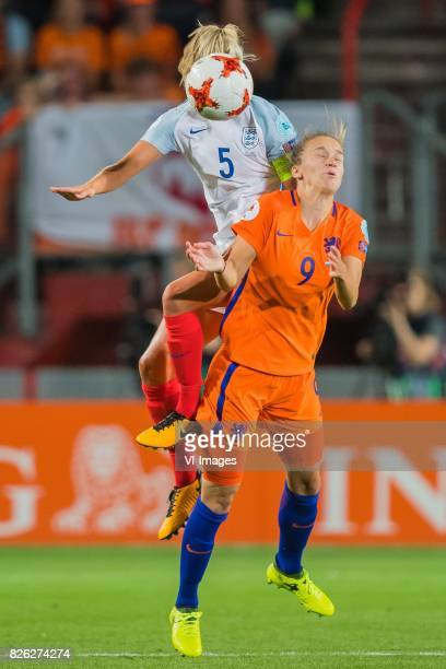 Steph Houghton of England women Vivianne Miedema of Holland Women during the semifinal UEFA WEURO 2017 match between The Netherlands and England at...