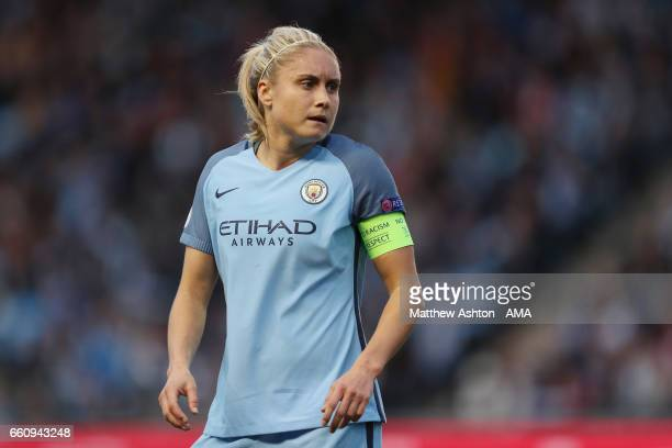 Steph Houghton of Manchester City during the UEFA Women's Champions League Quarter Final second leg match between Manchester City and Fortuna at Mini...