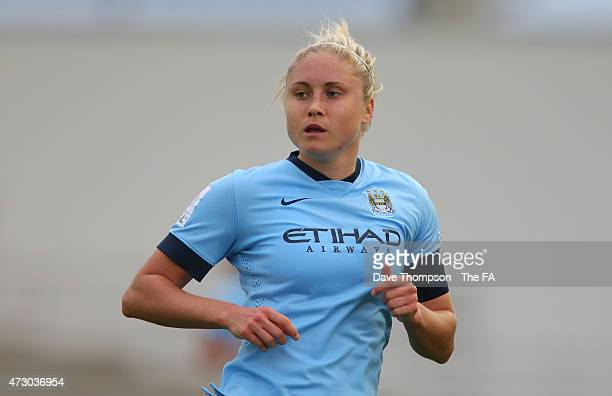 Steph Houghton of Manchester City during the Women's Super League match between Manchester City and Chelsea at the Manchester City Academy Stadium on...