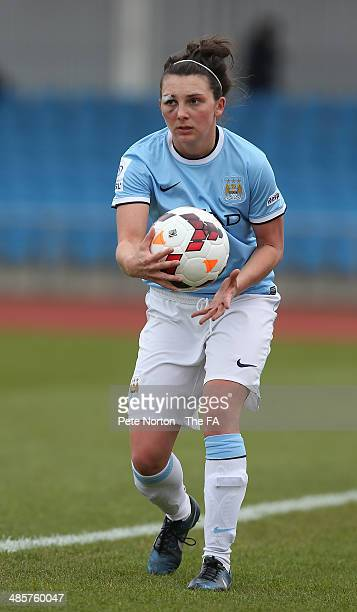 Steph Marsh of Manchester City Women in action during the FA WSL 1 match between Manchester City Women and Bristol Academy Women at Manchester...