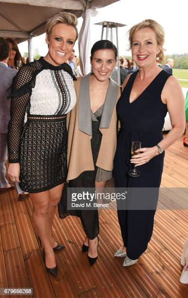 Steph McGovern Vicky McClure and Carol Kirkwood attend the Audi Polo Challenge at Coworth Park on May 6 2017 in Ascot United Kingdom