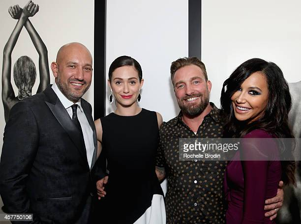 Steph Sebbag actress Emmy Rossum photographer Brian Bowen Smith and actress Naya Rivera attend the Brian Bowen Smith WILDLIFE show hosted by...