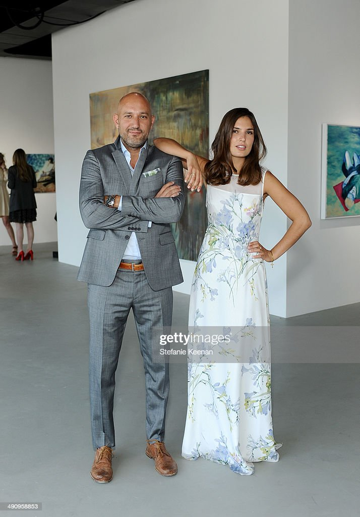 Steph Sebbag (L) and Marine Tanguy attend the grand opening of De Re Gallery on May 15, 2014 in West Hollywood, CA.