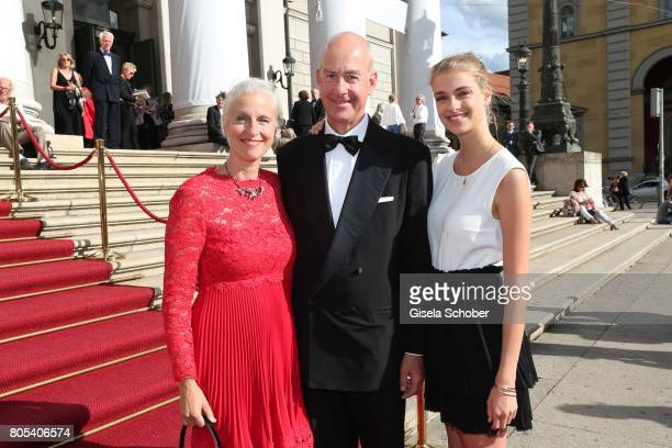 Stephan Boeninger and his wife Susanne Boeninger and their daughter Victoria Boeninger during the opening of the opera festival and premiere of 'Die...