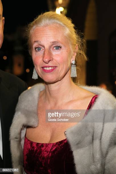 Stephan Boeninger's wife Susanne Boeninger wearing jewelry and earrings by Thomas Jirgens Juwelenschmiede during the opening of the Easter Festival...