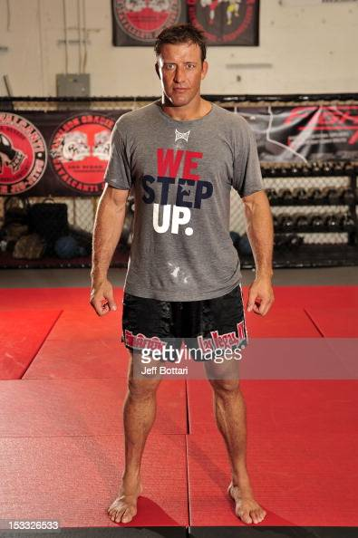 Stephan Bonnar poses for photos after an open workout session at One Kick's Gym on October 3 2012 in Las Vegas Nevada