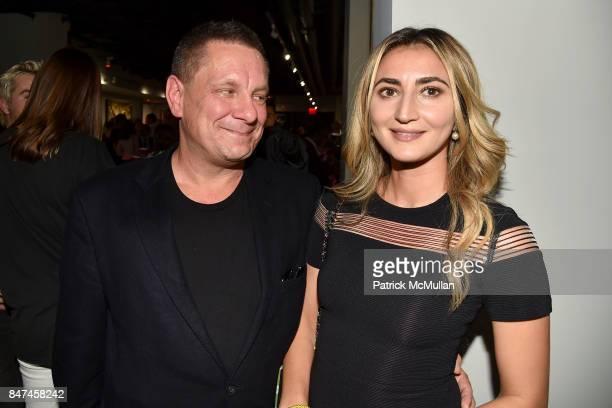 Stephan de Kwiatkowski and Esse de Kwiatkowski attend IV New York Gallery Grand Opening Exhibition on September 14 2017 in New York City