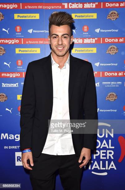 Stephan El Shaarawy attends 'Un Goal per l'Italia' Event on May 22 2017 in Norcia Italy