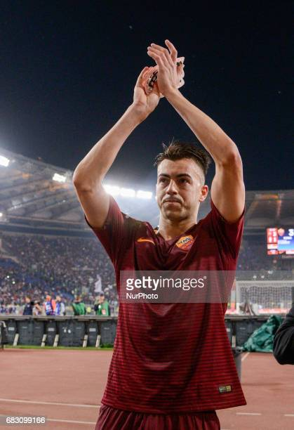 Stephan El Shaarawy during the Italian Serie A football match between AS Roma and FC Juventus at the Olympic Stadium in Rome on may 14 2017