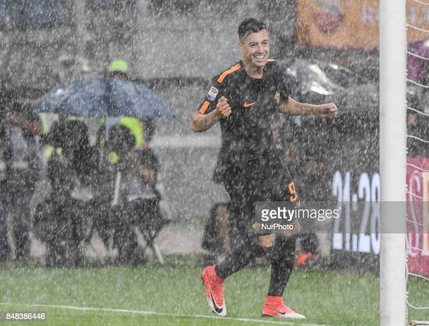 Stephan El Shaarawy during the Italian Serie A football match between AS Roma and FC Hellas Verona at the Olympic Stadium in Rome on september 16 2017