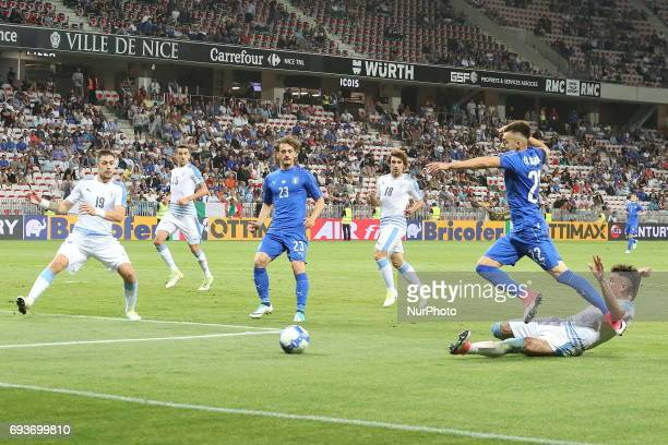 Stephan El Shaarawy in action during the international friendly between Italy and Uruguay at Allianz Riviera stadium on June 7 2017 in Nice France...