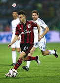 Stephan El Shaarawy of AC Milan in action during the Dubai Football Challenge match between AC Milan and Real Madrid at The Sevens Stadium on...