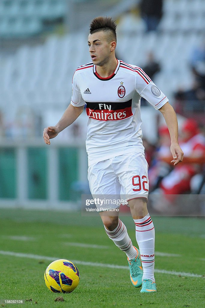 Stephan El Shaarawy of AC Milan in action during the Serie A match between Torino FC and AC Milan at Stadio Olimpico di Torino on December 9, 2012 in Turin, Italy.
