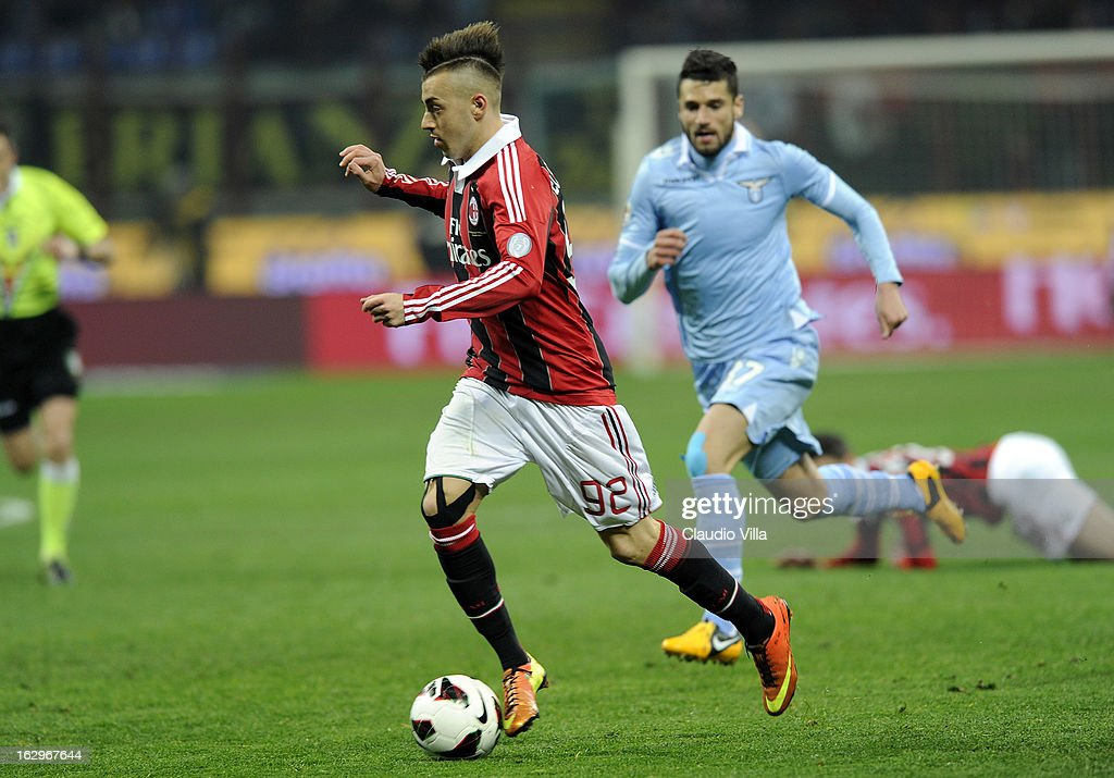 Stephan El Shaarawy of AC Milan in action during the Serie A match between AC Milan and S.S. Lazio at San Siro Stadium on March 2, 2013 in Milan, Italy.