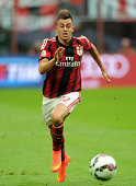 Stephan El Shaarawy of AC Milan in action during the Serie A match between AC Milan and SS Lazio at Stadio Giuseppe Meazza on August 31 2014 in Milan...