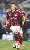 Stephan El Shaarawy of AC Milan in action during the TIM Preseason Tournament between US Sassuolo FC Juventus and AC Milan at Mapei Stadium Citta'...