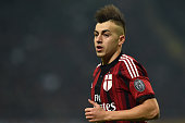 Stephan El Shaarawy of AC Milan looks on during the Serie A match between AC Milan and FC Internazionale Milano at Stadio Giuseppe Meazza on November...