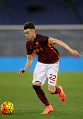 Stephan El Shaarawy of AS Roma in action during the Serie A match between AS Roma and UC Sampdoria at Stadio Olimpico on February 7 2016 in Rome Italy