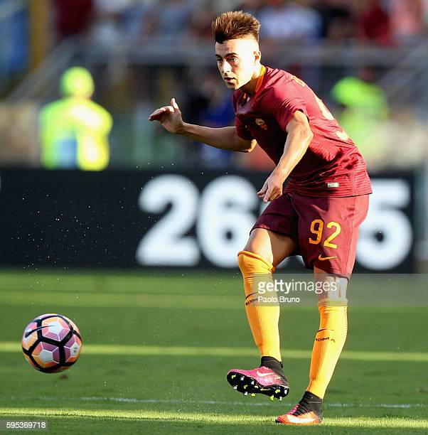 Stephan El Shaarawy of AS Roma in action during the Serie A match between AS Roma and Udinese Calcio at Olimpico Stadium on August 20 2016 in Rome...