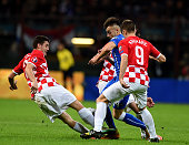 Stephan El Shaarawy of Italy during the EURO 2016 Group H Qualifier match between Italy and Croatia at Stadio Giuseppe Meazza on November 16 2014 in...