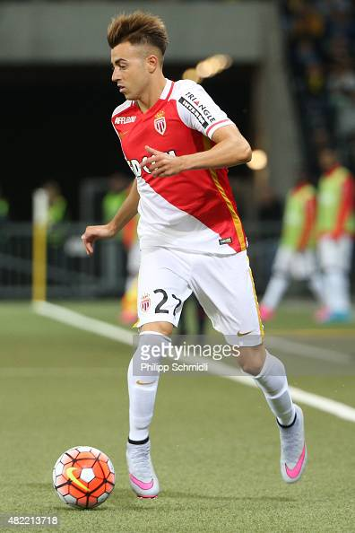 Stephan El Shaawary of AS Monaco runs with the ball during the UEFA Champions League third qualifying round 1st leg match between BSC Young Boys and...