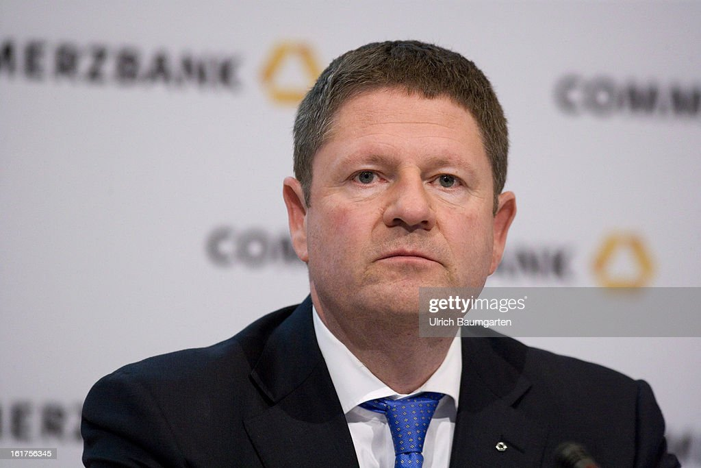 Stephan Engels, financial chairman of the Commerzbank AG, looks on during the company's annual press conference to present the 2012 results on February 15, 2013 in Frankfurt am Main, Germany. Chief Executive Martin Blessing announced at the press conference that he will waive his annual bonus as a result of the bank's unsatisfactory annual profit.