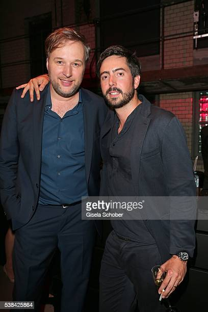 Stephan Grossmann and Director David Dietl during the New Faces Award Film 2016 at ewerk on May 26 2016 in Berlin Germany