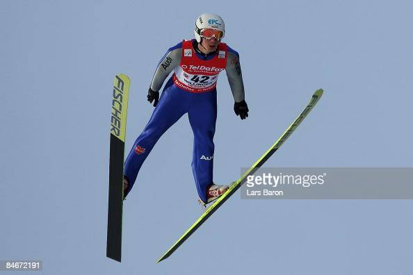 Stephan Hocke of Germany competes during day one of the FIS Ski Jumping World Cup at the Muehlenkopfschanze on February 6 2009 in Willingen Germany
