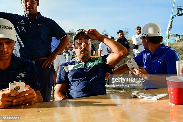 Stephan Jaeger breathes a sigh of relief in the scorer's tent following his opening round 58 during the first round of the Webcom Tour Ellie Mae...