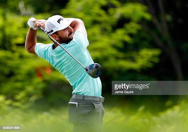 Stephan Jaeger of Germany hits his first shot on the 5th hole during the third round of the Corales Puntacana Resort And Club Championship on June 4...