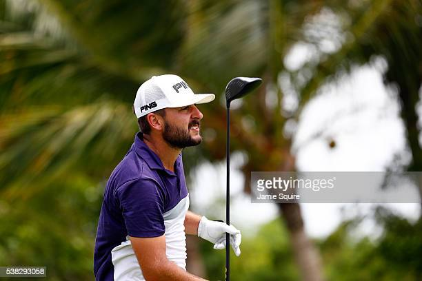 Stephan Jaeger of Germany hits his first shot on the 6th hole during the final round of the Corales Puntacana Resort And Club Championship on June 5...