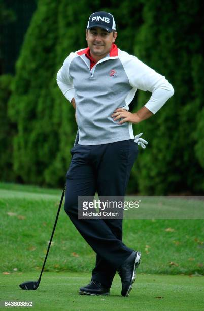 Stephan Jaeger of Germany looks on during the third round of the Nationwide Children's Hospital Championship held at The Ohio State University Golf...