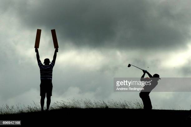 Stephan Jaeger of Germany on the fifth hole during the third round of the 2017 US Open at Erin Hills on June 17 2017 in Hartford Wisconsin