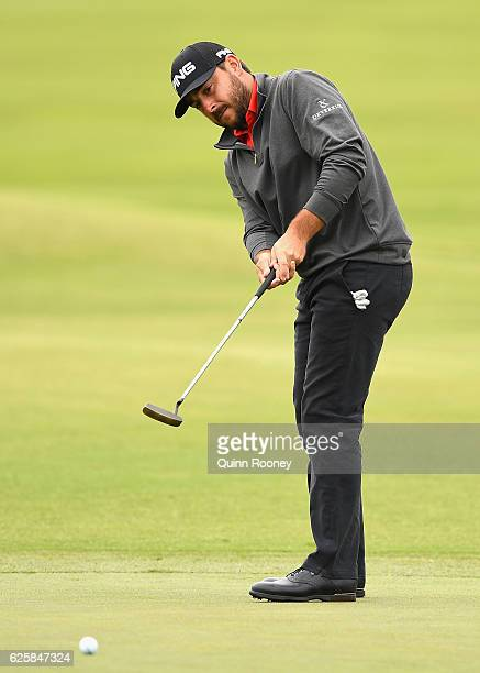 Stephan Jaeger of Germany putts during day three of the World Cup of Golf at Kingston Heath Golf Club on November 26 2016 in Melbourne Australia