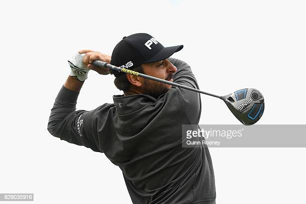 Stephan Jaeger of Germany tees off during day four of the World Cup of Golf at Kingston Heath Golf Club on November 27 2016 in Melbourne Australia