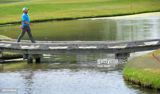 Stephan Jaeger walks along the seventh hole during the final round of the Webcom Tour RustOleum Championship at Ivanhoe Club on June 11 2017 in...