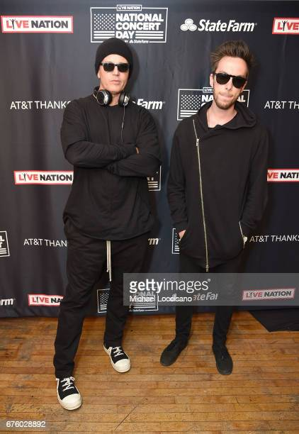 Stephan Jenkins and Alex Kopp of Third Eye Blind attend Live Nation's celebration of The 3rd Annual National Concert Day at Irving Plaza on May 1...