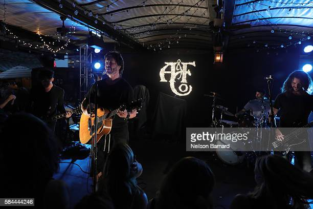 Stephan Jenkins and Third Eye Blind perform at Abercrombie Fitch Summer Rooftop Party at Gallow Green Rooftop on July 28 2016 in New York City