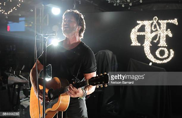 Stephan Jenkins of Third Eye Blind performs at Abercrombie Fitch Summer Rooftop Party at Gallow Green Rooftop on July 28 2016 in New York City