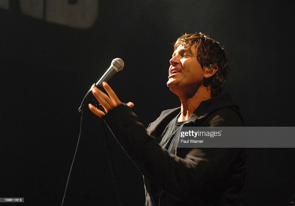 Stephan Jenkins of Third Eye Blind performs with the band at The Fillmore on December 29, 2012 in Detroit, Michigan.