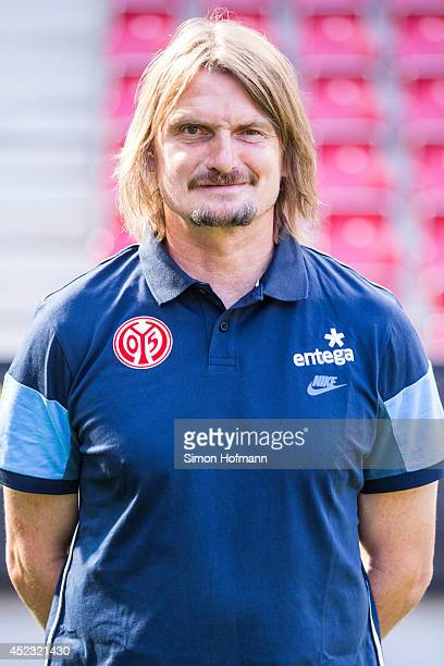 Stephan Kuhnert poses during the 1 FSV Mainz Team Presentation at Coface Arena on July 18 2014 in Mainz Germany