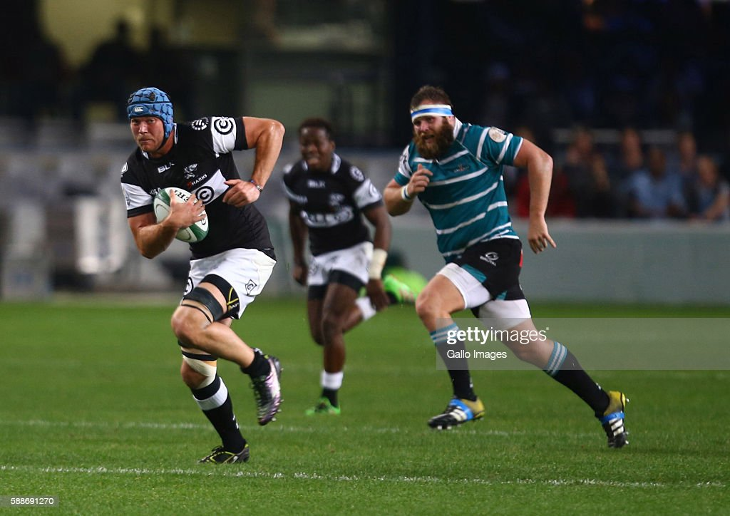 Stephan Lewies of the Cell C Sharks during the Currie Cup match between Cell C Sharks XV and Griquas at Growthpoint Kings Park on August 12 2016 in...