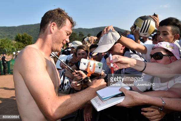 Stephan Lichtsteiner during the preseason friendly match between Juventus A and Juventus B on August 17 2017 in Villar Perosa Italy