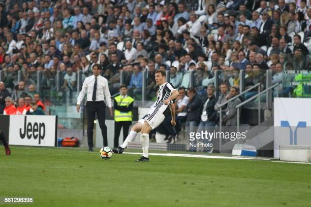 Stephan Lichtsteiner during the Serie A football match between Juventus FC and SS Lazio at Olympic Allianz Stadium on 14 October 2017 in Turin Italy