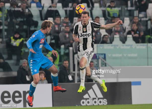 Stephan Lichtsteiner during Tim Cup 2016/2017 match between Juventus v Napoli in Turin on February 28 2017