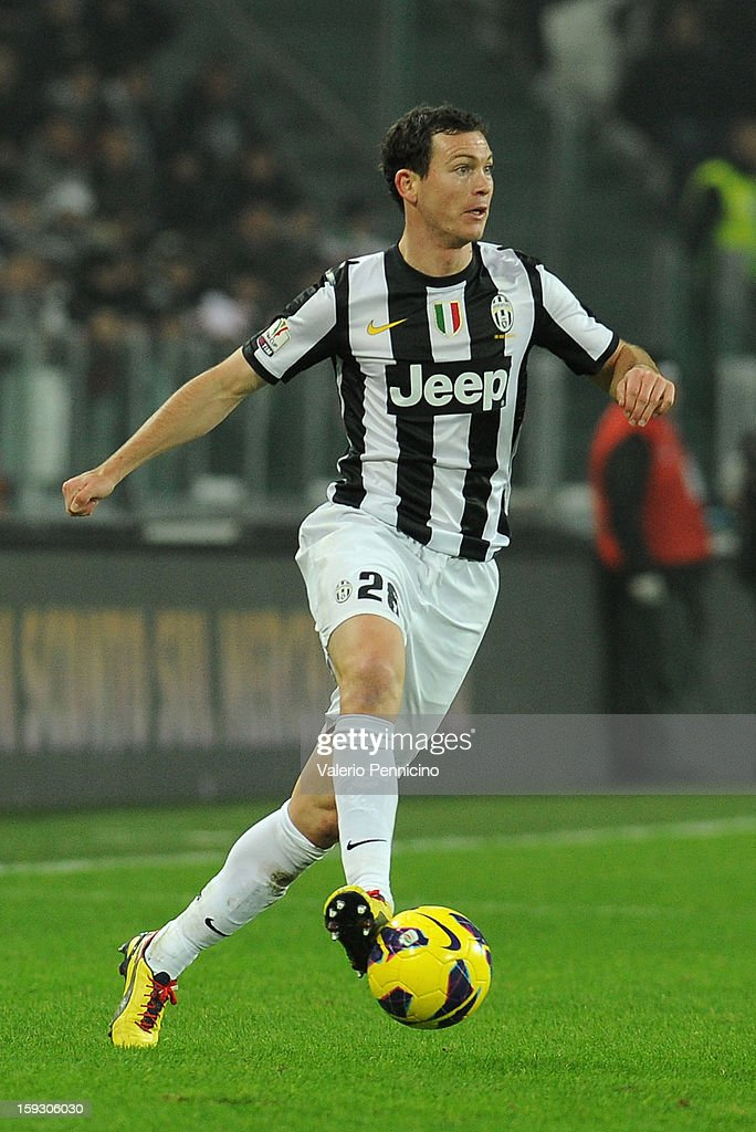 Stephan Lichtsteiner of Juventus FC in action during the TIM cup match between Juventus FC and AC Milan at Juventus Arena on January 9, 2013 in Turin, Italy.