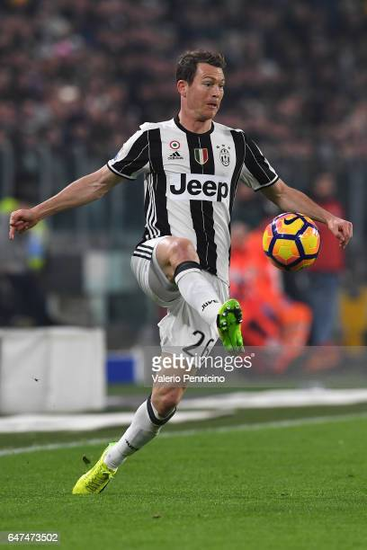 Stephan Lichtsteiner of Juventus FC in action during the TIM Cup match between Juventus FC and SSC Napoli at Juventus Arena on February 28 2017 in...